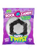 Rock Candy Taffy Twist Cock Ring - Black